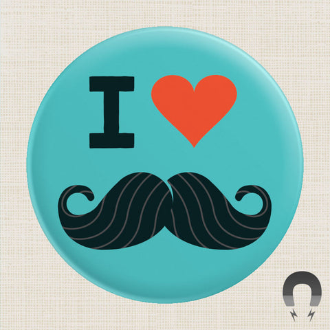 I Heart Mustaches Big Magnet by Crossroads Creative