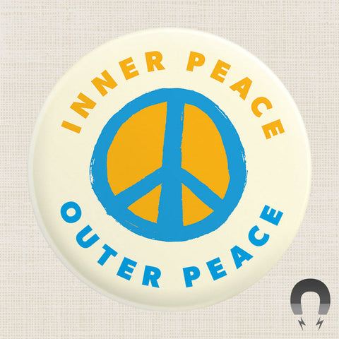Inner Peace Outer Peace Big Magnet by CDR