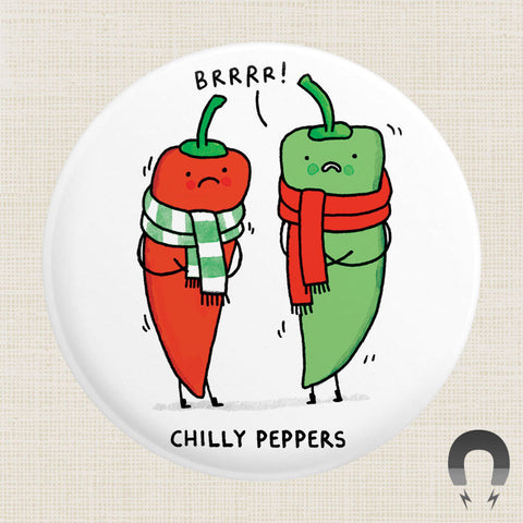Chilly Peppers Big Magnet by Gemma Correll