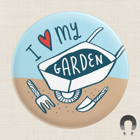 I Heart My Garden Big Magnet by Kate Sutton