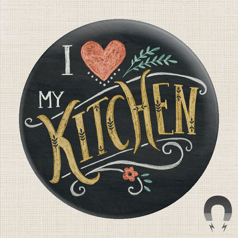 I Love My Kitchen Big Magnet by Rebecca Jones