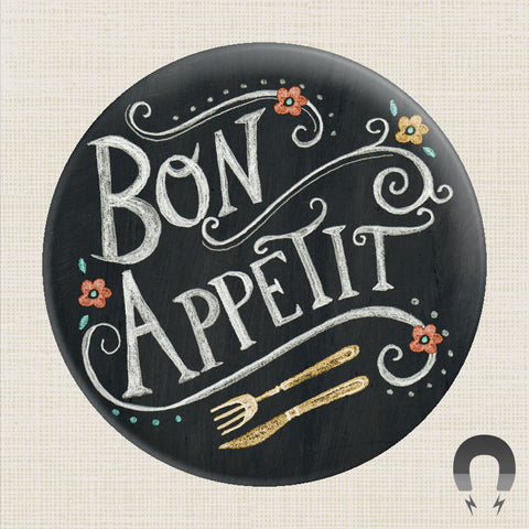 Bon Appetit Big Magnet by Rebecca Jones