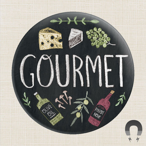 Gourmet Big Magnet by Rebecca Jones