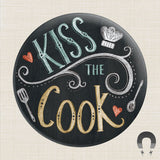Kiss The Cook Big Magnet by Rebecca Jones