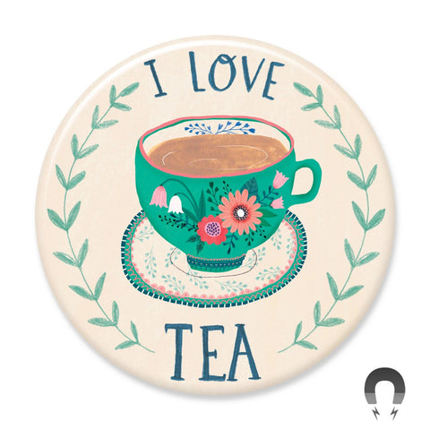 I Love Tea Big Magnet