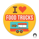 I Heart Food Trucks Big Magnet by Crossroads Creative.