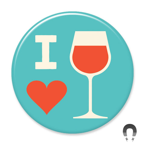 I Heart Wine Big Magnet by Crossroads Creative.