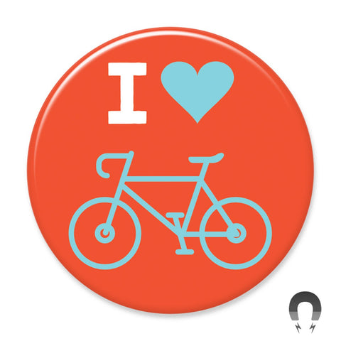 I Heart Bikes Big Magnet by Crossroads Creative.
