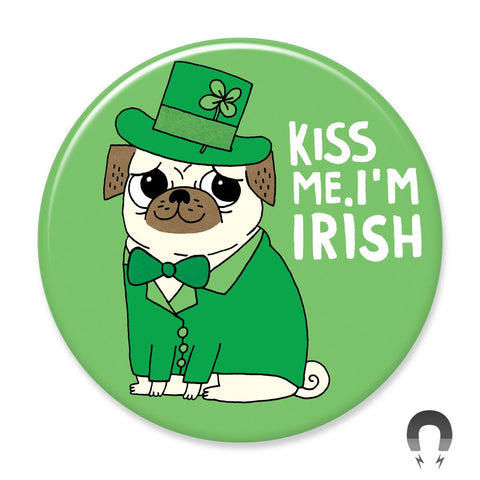 Kiss Me I'm Irish Big Magnet by Gemma Correll