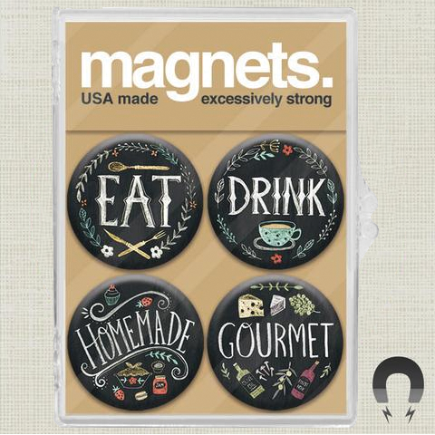 Eat Drink Magnet Pack by Rebecca Jones