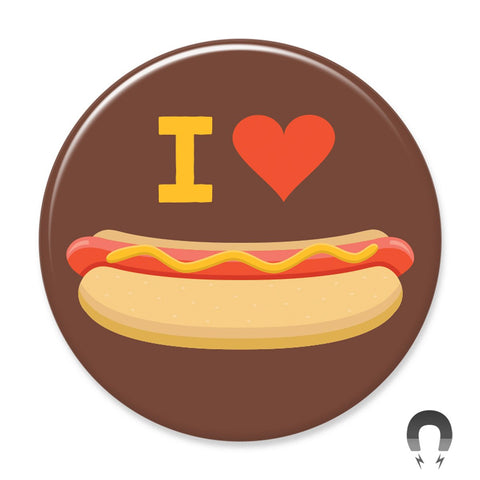 I Heart Hot Dogs Big Magnet by Crossroads Creative