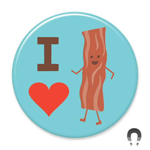 I Heart Bacon Big Magnet