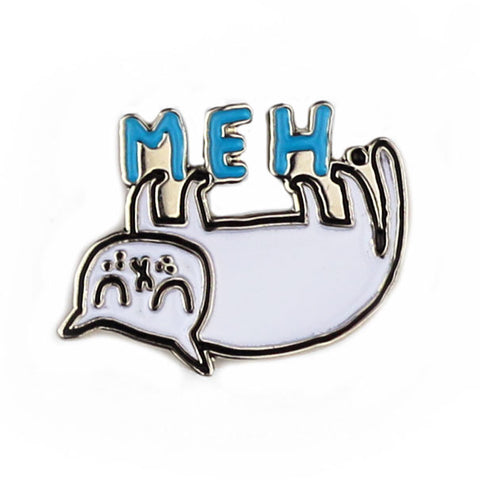 Meh Cat Enamel Pin