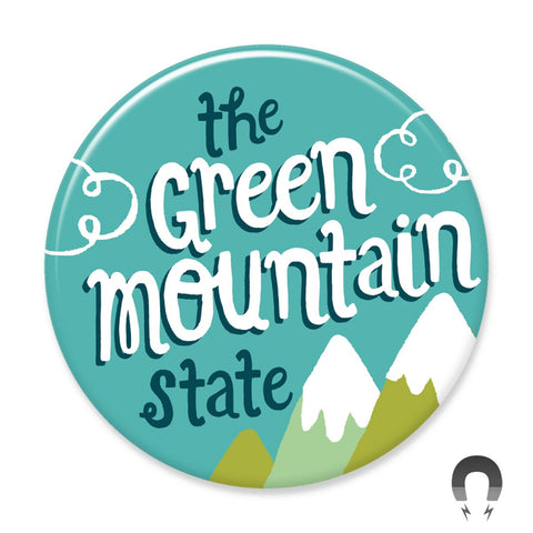 Vermont Green Mountain State Big Magnet by Allison Cole.