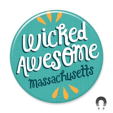 Wicked Awesome Massachusetts Big Magnet