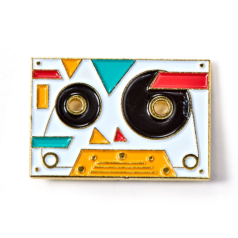 Retro Mix Tape Enamel Pin