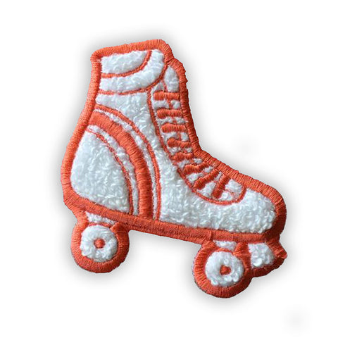 Rollerskate Chenille Patch