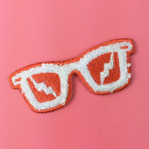 Sunglasses Chenille Iron-On Patch by Allison Cole