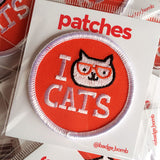 I Cat Cats Patch by Gemma Correll and Badge Bomb