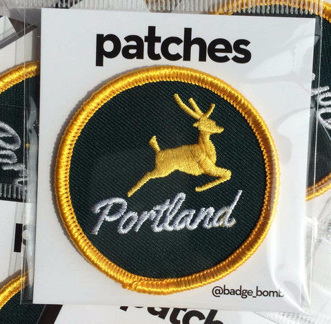 Portland Stag Iron-On Patch Badge Bomb