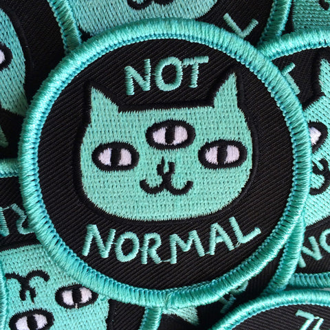 Not Normal Cat Iron-On Patch by Gemma Correll