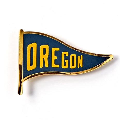 Oregon Pennant Enamel Pin