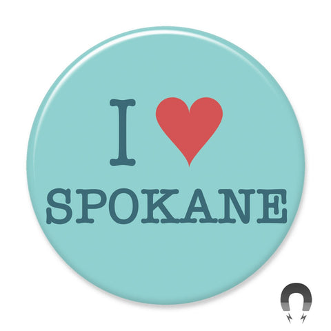 I Heart Spokane Blue Big Magnet
