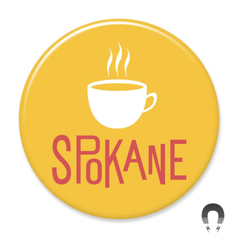 Gold Coffee Spokane Washington Magnet