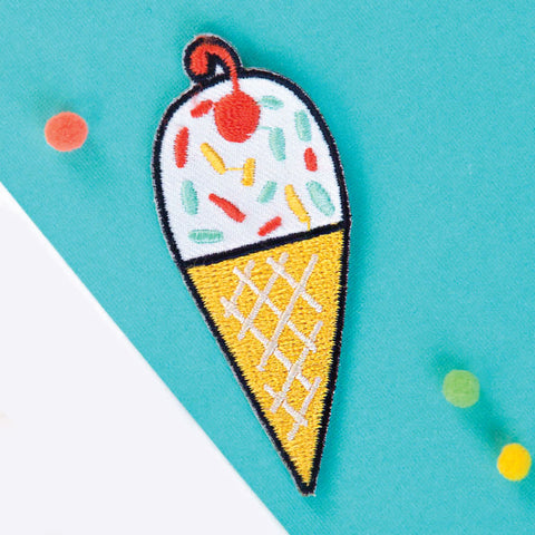Ice Cream Cone Patch by Allison Cole