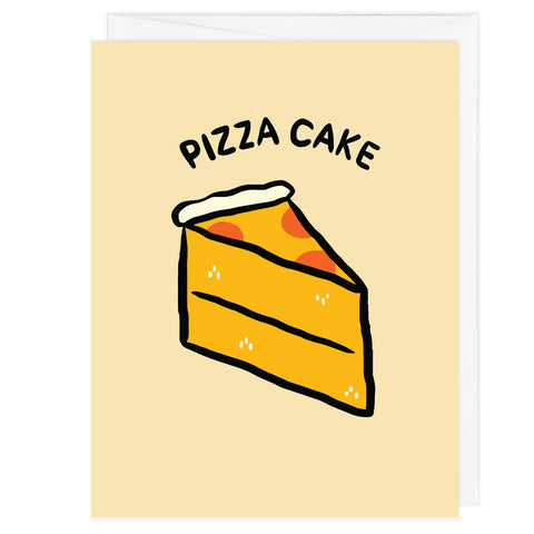 Pizza Cake A2 Card