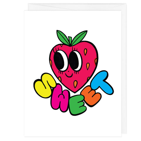 Sweet Strawberry A2 Card