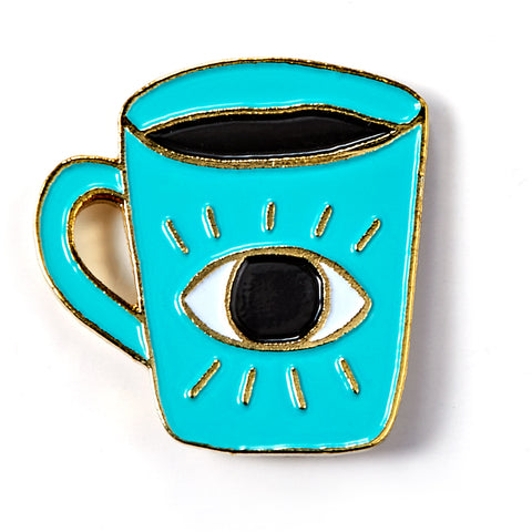 Enlightened Coffee Cup Enamel Pin