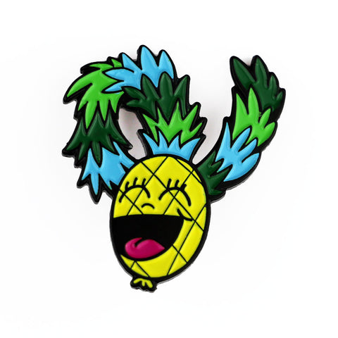Laughing Pineapple Enamel Pin