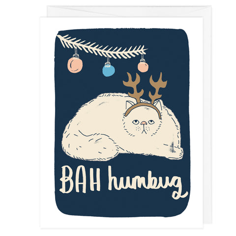 BAH Humbug Cat Holiday Card