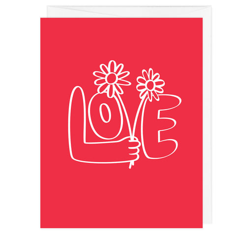 Love Flowers A2 Card