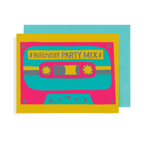 Birthday Party Mix Tape A2 Card