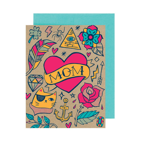Mom Tattoo Flash A2 Card