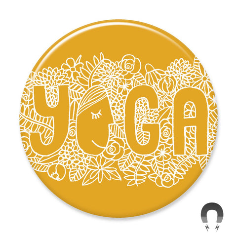 Yoga Flowers Big Magnet