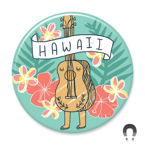 Hawaii Ukulele Big Magnet