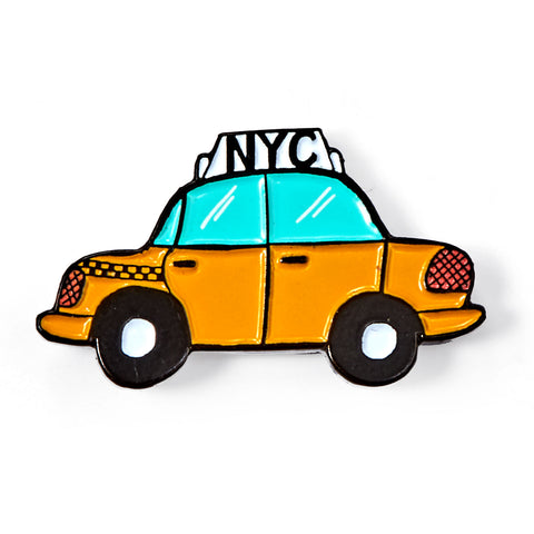NYC Taxi Enamel Pin