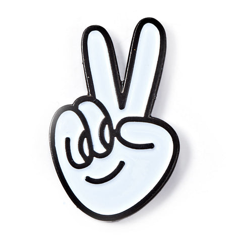 Peace Hands Enamel Pin