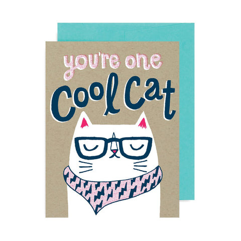 You're One Cool Cat A2 Card