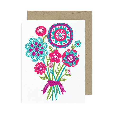 Floral Bouquet A2 Card
