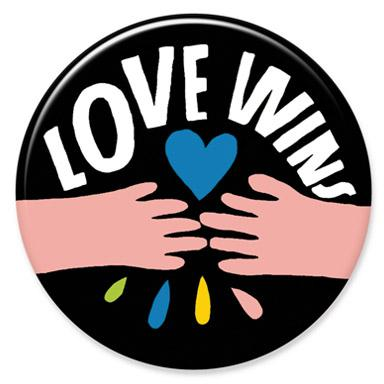Love Wins Button by Lisa Congdon