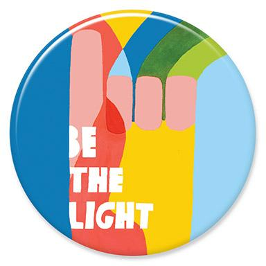 Be the Light Button by Lisa Condon