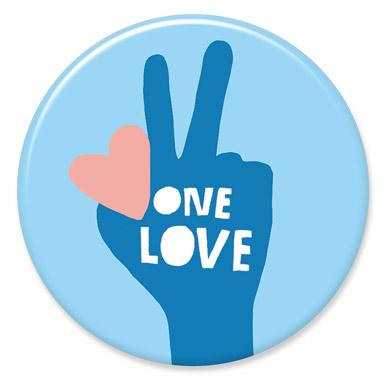 One Love Button by Lisa Congdon