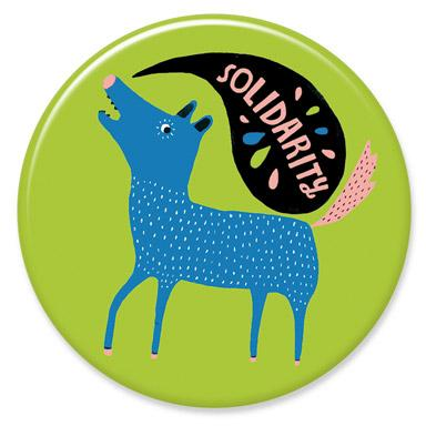 Solidarity Button by Lisa Congdon
