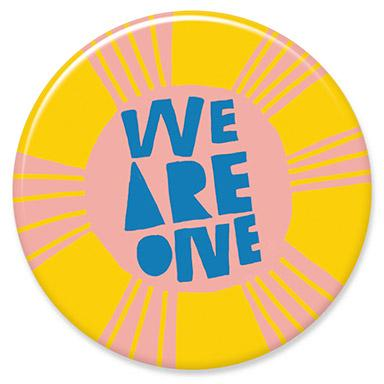 We Are One Button by Lisa Congdon