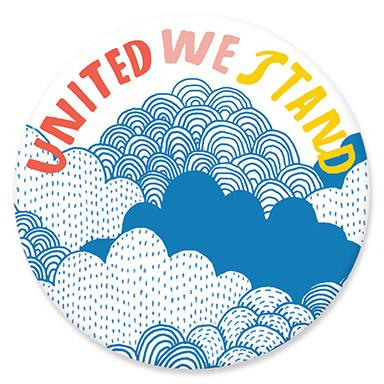 United We Stand Button by Lisa Congdon