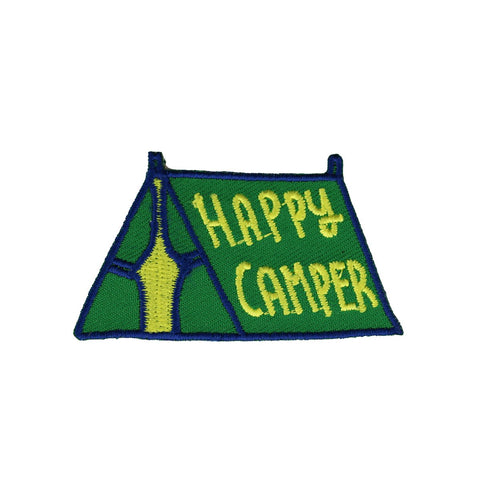 Happy Camper Tent Green Patch